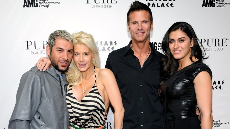 Blogger Nik Richie, his wife, actress Shayne Lamas, her father, actor Lorenzo Lamas and his wife Shawna Craig.