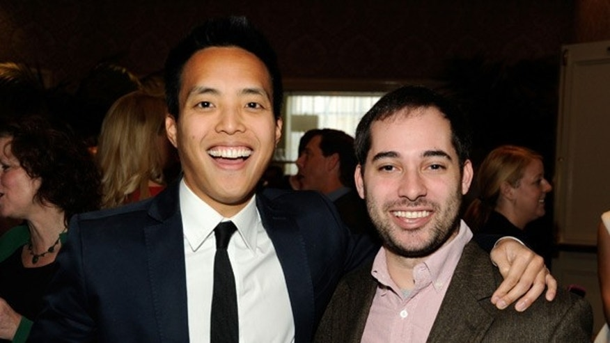 Alan Yang (left) and Harris Wittels attend the 12th Annual AFI Awards at the Four Seasons Hotel Los Angeles at Beverly Hills on January 13, 2012.