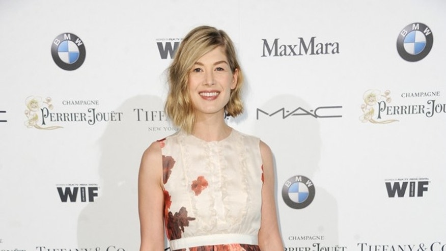 Feb 20, 2015. Rosamund Pike arrives at the 8th Annual Women In Film Pre-Oscar Cocktail Party in Los Angeles.