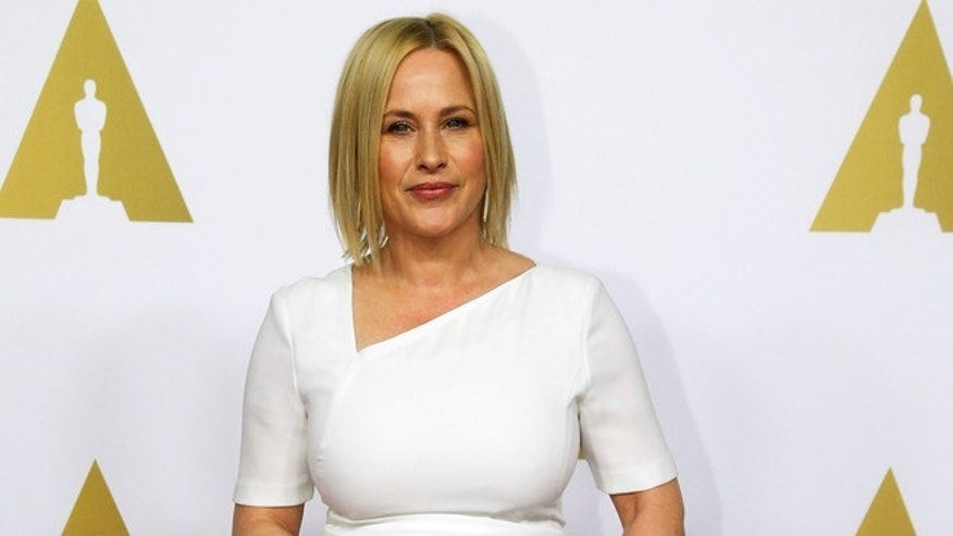 "February 2, 2015. Patricia Arquette, nominated for best actress for her role in the film ""Boyhood,"" arrives at the 87th Academy Awards nominees luncheon in Beverly Hills, California."