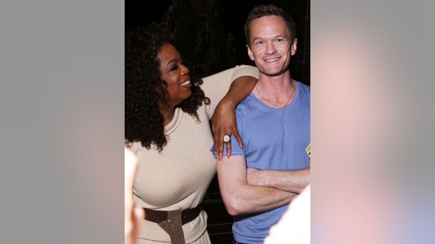 February 21, 2015. Oprah Winfrey, left, and Neil Patrick Harris are seen during rehearsals for the 87th Academy Awards in Los Angeles.