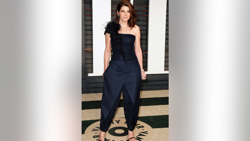 Marissa Tomer's blue number was not flattering and fell flat at the 2015 Vanity Fair Oscar Party.