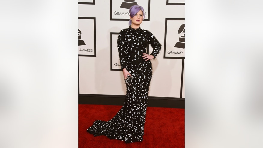Kelly Osbourne arrives at the 57th annual Grammy Awards at the Staples Center on Sunday, Feb. 8, 2015, in Los Angeles. (Photo by Jordan Strauss/Invision/AP)