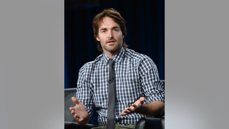"Creator of the show Will Forte takes part in a panel for the television series ""The Last Man On Earth"" during Fox Broadcasting Company's part of the Television Critics Association (TCA) Winter 2015 presentations in Pasadena, California January 17, 2015.  REUTERS/Kevork Djansezian  (UNITED STATES - Tags: ENTERTAINMENT) - RTR4LTZU"