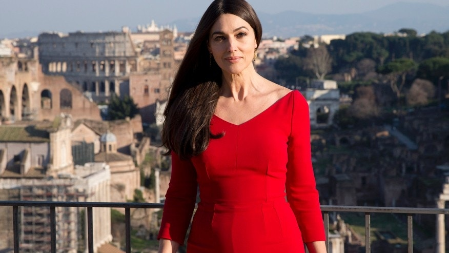 Actress Monica Bellucci poses during a photo call for the latest James Bond movie 'Spectre', in Rome, Wednesday, Feb. 18, 2015.