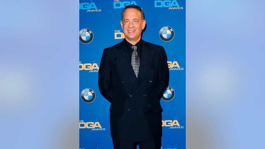 January 25, 2014. Tom Hanks poses during the 66th annual Directors Guild of America Awards in Beverly Hills, California.
