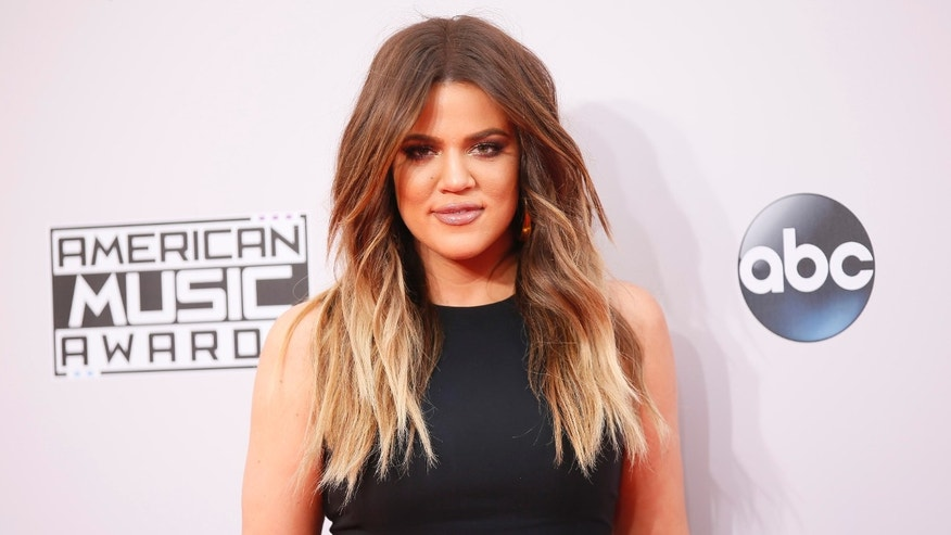 November 23, 2014. Khloe Kardashian arrives at the 42nd American Music Awards in Los Angeles, California.