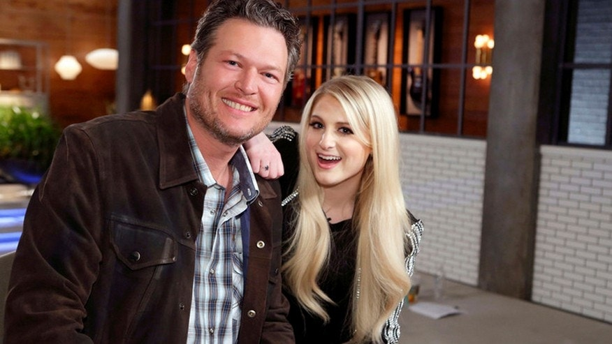 """The Voice"" coach Blake Shelton and guest coach Meghan Trainor."
