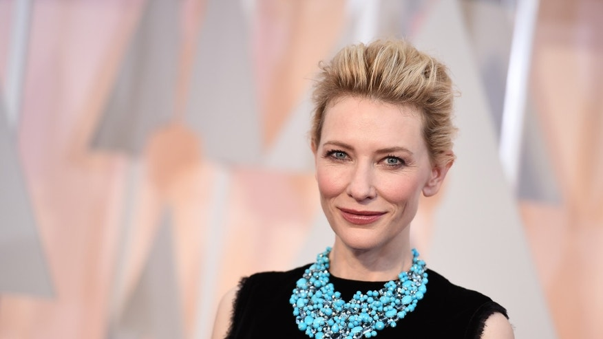 Feb. 22, 2015. Cate Blanchett arrives at the Oscars at the Dolby Theatre in Los Angeles.