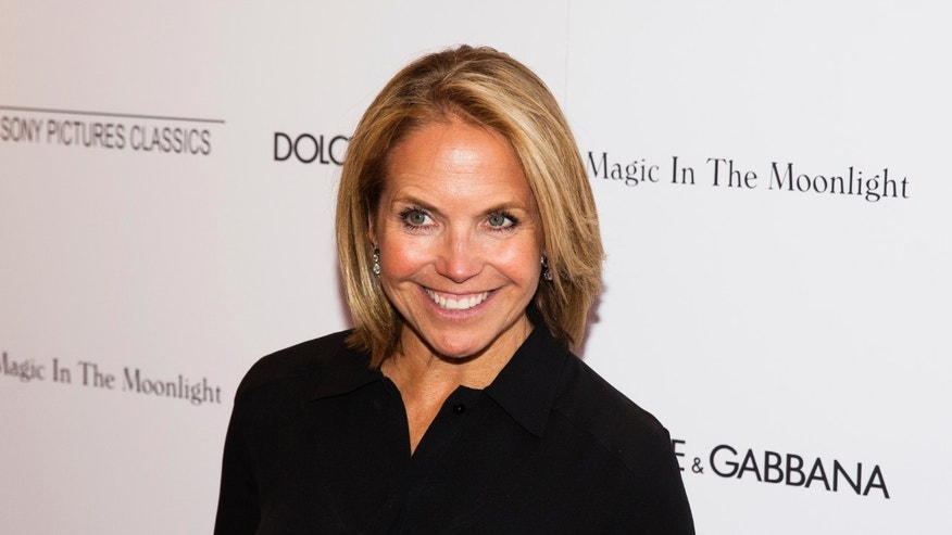 "July 17, 2014. Katie Couric arrives for the premiere of the Woody Allen film ""Magic in the Moonlight"" in New York."