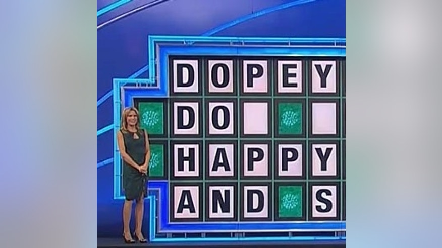 "Vanna White on ""Wheel of Fortune."""