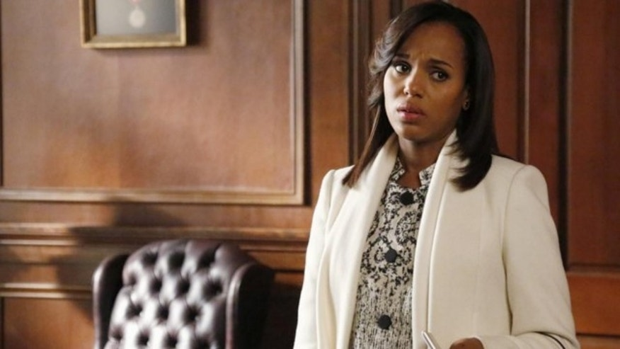 "This image released by ABC shows actress Kerry Washington in a scene from ""Scandal."""