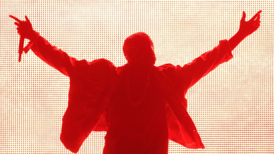 Rapper Kanye West performs during the Made in American music festival in Los Angeles, California August 31, 2014.