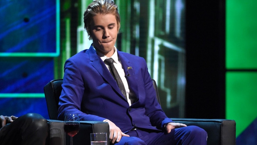 March 14, 2015: Justin Bieber appears on stage at the Comedy Central Roast of Justin Bieber at Sony Pictures Studios.