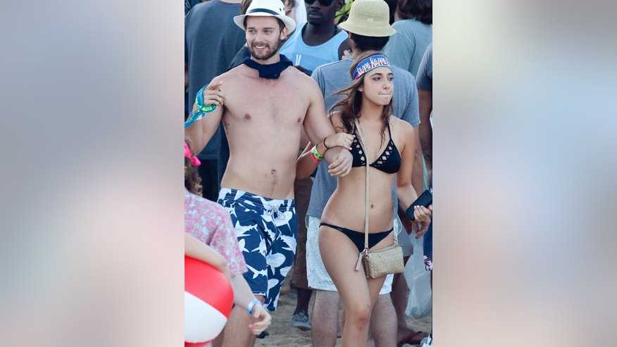 Miley Cyrus boyfriend Patrick Schwarzenegger and a mystery girl in Mexico.