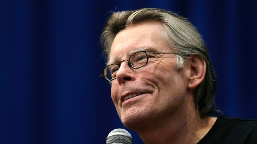 Dec. 7, 2012. Novelist Stephen King speaks to creative writing students at the University of Massachusetts-Lowell in Lowell, Mass.