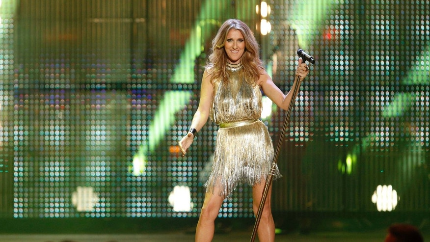 November 22, 2012. Canadian singer Celine Dion performs during the Bambi 2012 media awards ceremony in Duesseldorf, Germany.