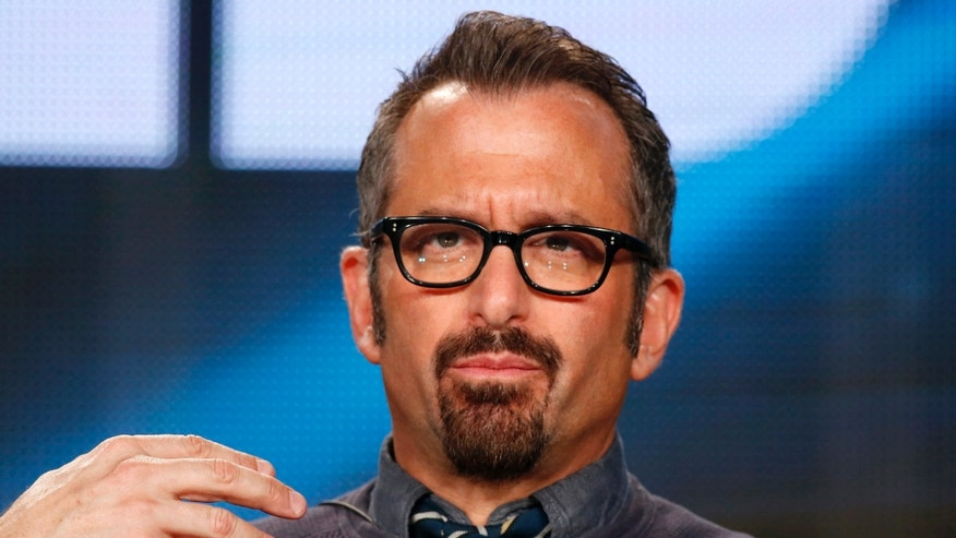 "January 8, 2015. Director Andrew Jarecki speaks about the HBO television show ""The Jinx: The Life and Deaths of Robert Durst"" during the TCA presentations in Pasadena, California."