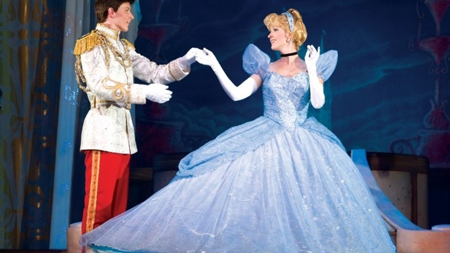 "Cinderella in the Disney Live! show ""Three Classic Fairy Tales."""
