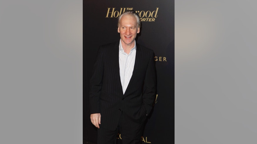 February 24, 2011. Bill Maher arrives at The Hollywood Reporter Academy Awards nominee party in Los Angeles.