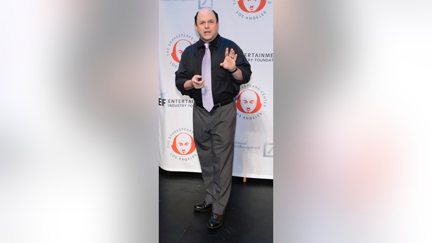 "September 25, 2013. Jason Alexander attends The Shakespeare Center of Los Angeles 23rd Annual Simply Shakespeare benefit reading of ""The Two Gentlemen of Verona"" in California."