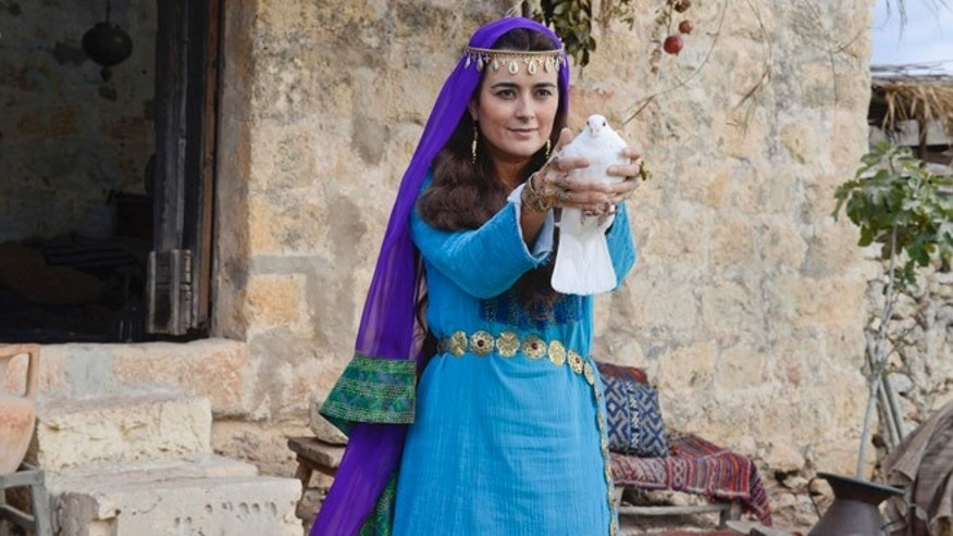 Cote de Pablo as Shirah, in the two-night miniseries 'The Dovekeepers,' based on the best-selling novel of the same name.
