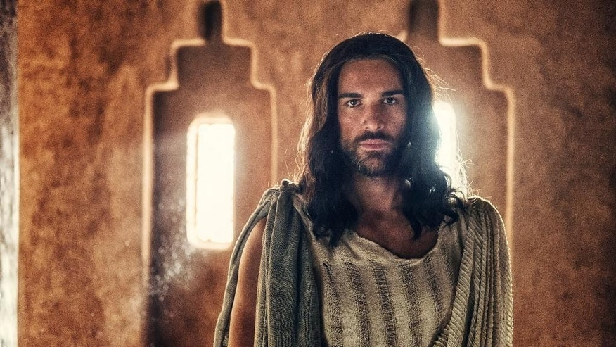 "In this image released by NBC, Juan Pablo Di Pace portrays Jesus in a scene from ""A.D. The Bible Continues."" The first of the 10 episodes airs on Easter, picking up where its predecessor, the wildly popular ""The Bible"" series from the History Channel left off and going on to tell the story of what happened to Christ's disciples after the crucifixion. (AP Photo/LightWorkers Media/NBC, Joe Alblas)"