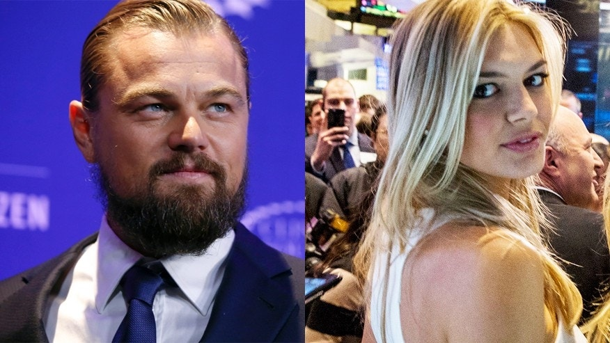 Leonardo DiCaprio and Kelly Rohrbach, right.