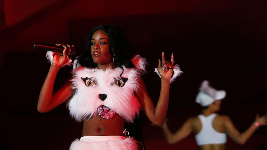 May 25, 2013. Azealia Banks performs during the opening ceremony of the 21st Life Ball in Vienna.