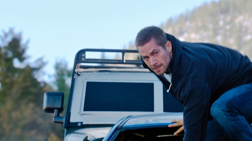 "Paul Walker as Brian in a scene from ""Furious 7."""