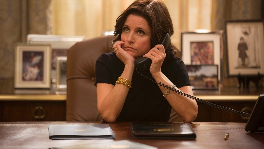 "Julia Louis-Dreyfus in a scene from the upcoming season of HBO's ""Veep."""