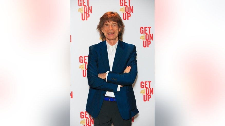 "FILE - In this Sept. 14, 2014, file photo, Mick Jagger attends the world premiere of ""Get On Up"" at the Ham Yard Hotel in central London. ""Empire"" is a powerhouse, but it might have just received its biggest endorsement: Jagger says he's a fan of the musical drama series. (Photo by John Phillips Invision/AP, File)"