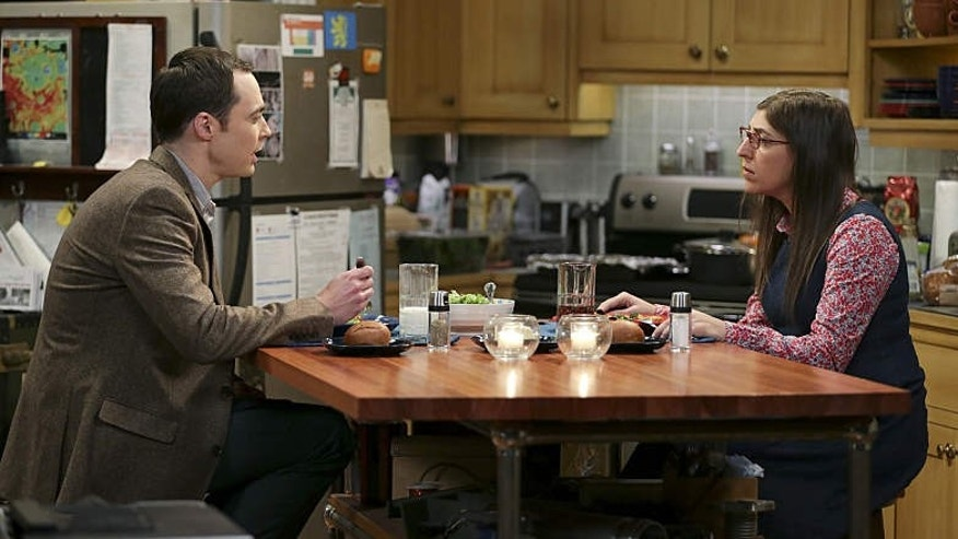 Jim Parsons and Mayim Bialik as Sheldon and Amy on CBS' 'The Big Bang Theory (Michael Yarish/Warner Bros. Entertainment Inc.)