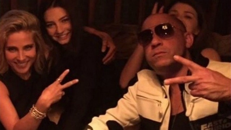 "Paul Walker's daughter Meadow poses for Instagram photo with ""Furious 7"" stars Vin Diesel and Elsa Pataky."