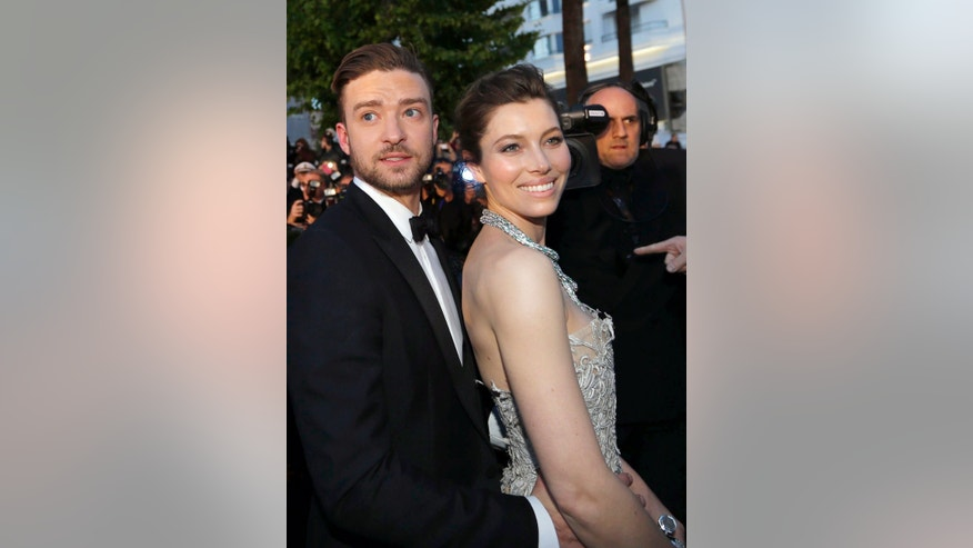 "May 19, 2013. Actor and singer Justin Timberlake (L) and actress Jessica Biel leave after the screening of the film ""Inside Llewyn Davis"" in competition during the 66th Cannes Film Festival in Cannes."