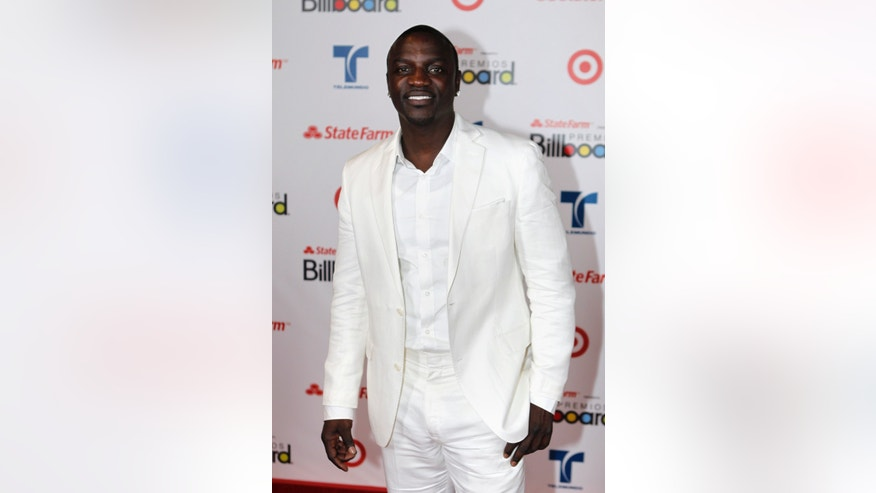 April 26, 2012. Senegalese American R&B recording artist, songwriter, record producer Akon arrives at the 2012 Billboard Latin Music Awards in Coral Gables, Florida.