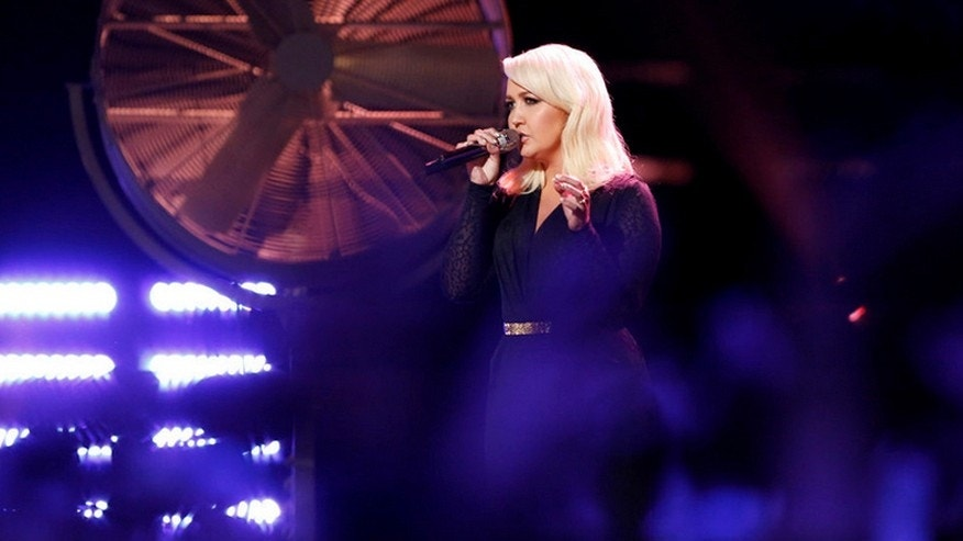 "Meghan Linsey performing ""Girl Crush"" on NBC's ""The Voice"" April 13."