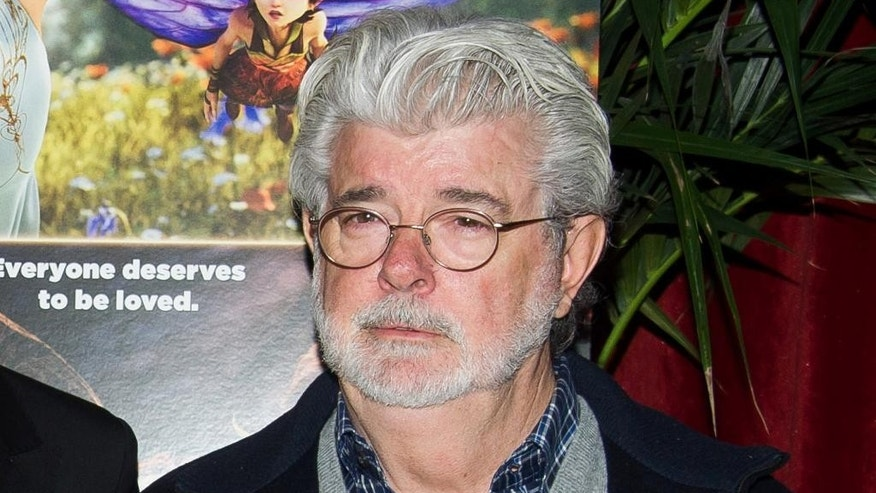 "FILE - In this Jan. 17, 2015 file photo, George Lucas attends a special screening of ""Strange Magic"" in New York. (Photo by Charles Sykes/Invision/AP, File)"