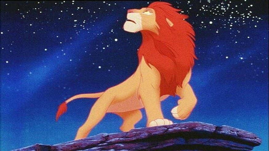 "Simba as an adult in ""The Lion King."""
