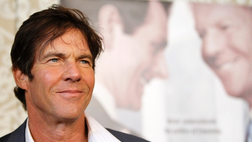 "Cast member Dennis Quaid poses at the premiere of the movie ""The Special Relationship"" at the Director's Guild of America in Los Angeles May 19, 2010. REUTERS/Mario Anzuoni  (UNITED STATES - Tags: ENTERTAINMENT) - RTR2E4A6"