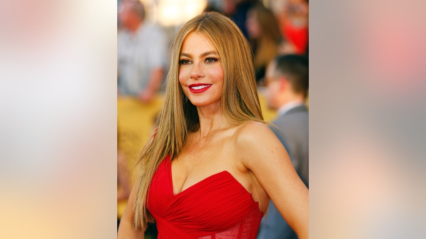 January 25, 2015. Actress Sofia Vergara arrives at the 21st annual Screen Actors Guild Awards in Los Angeles, California.