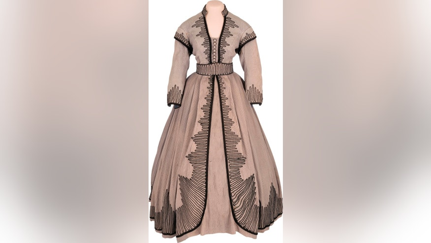 This undated photo courtesy of Heritage Auctions and HA.com shows an outfit worn in several scenes of the 1939 film Gone With the Wind by Vivien Leigh as she played Scarlett OHara.
