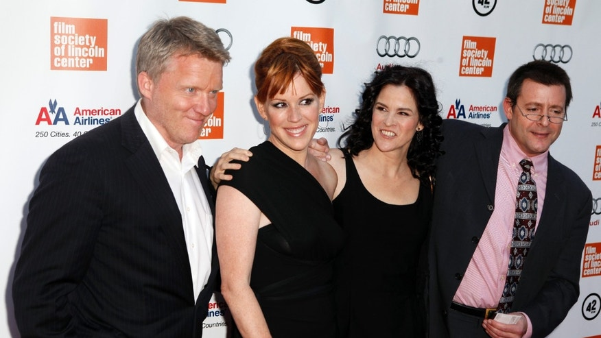 "September 20, 2010. (L-R) Actors Anthony Michael Hall, Molly Ringwald, Ally Sheedy, and Judd Nelson arrive for the Film Society of Lincoln Center celebration of the 25th anniversary of ""The Breakfast Club"" and remembrance of filmmaker John Hughes in New York City."