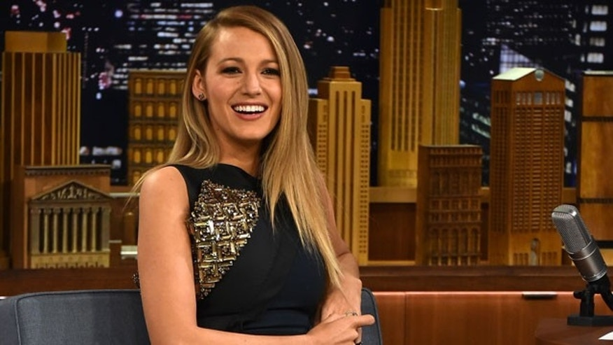 """April 21, 2015. Blake Lively on """"The Tonight Show."""""""