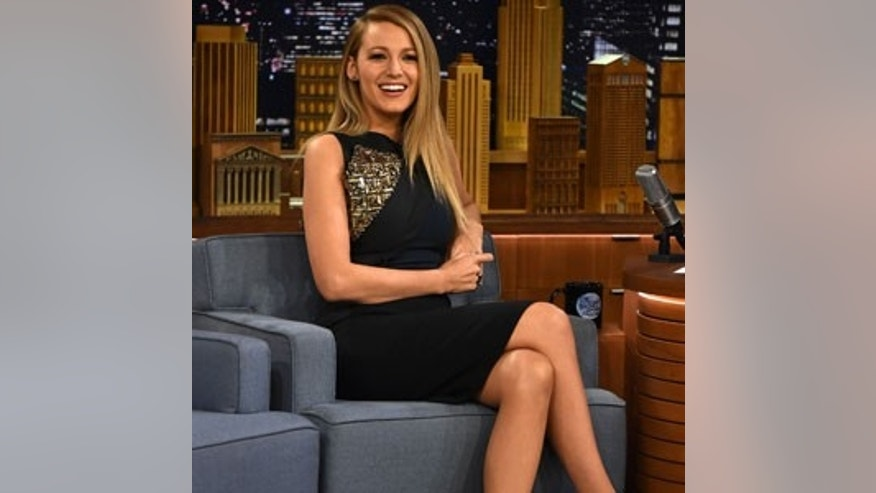 "April 21, 2015. Blake Lively on ""The Tonight Show."""