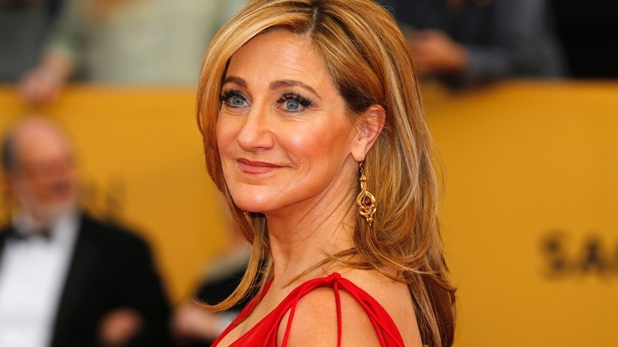 """Actress Edie Falco from the Showtime series """"Nurse Jackie"""" arrives at the 21st annual Screen Actors Guild Awards in Los Angeles, California January 25, 2015."""