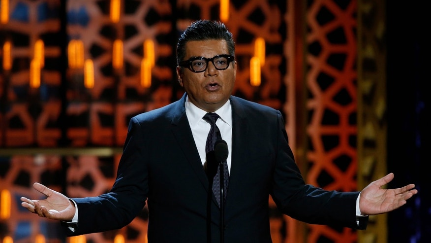 BEVERLY HILLS, CA - APRIL 11:  Comedian George Lopez speaks onstage during the 2015 TV Land Awards at Saban Theatre on April 11, 2015 in Beverly Hills, California.  (Photo by Joe Scarnici/Getty Images)