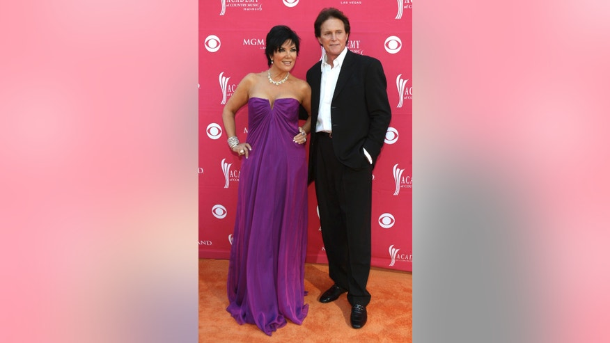April 5, 2009. Bruce Jenner and wife Kris arrive at the 44th Annual Academy of Country Music Awards in Las Vegas.