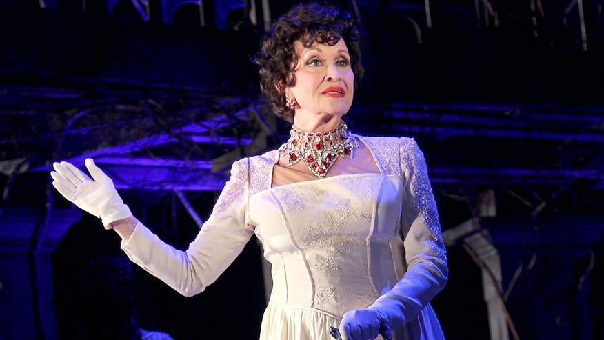 "In this Feb. 12, 2015 photo released by Starpix, Chita Rivera appears at a media event for Kander and Ebb's Final Musical, ""The Visit,"" at The Lyceum Theatre in New York. (Aurora Rose/Starpix via AP)"