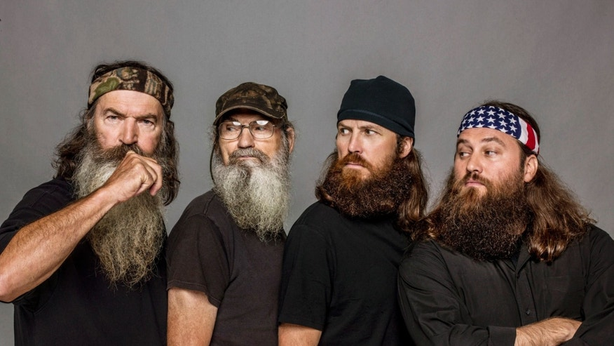 "The Robertsons, from left, Phil, Si, Jase and Willie, from the reality series, ""Duck Dynasty."""